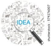 idea illustration flat design...   Shutterstock .eps vector #579276007