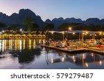 vang vieng  laos   january 19 ... | Shutterstock . vector #579279487