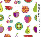 vector seamless background with ... | Shutterstock .eps vector #579280231