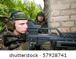 the soldiers of the bundeswehr... | Shutterstock . vector #57928741