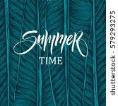summer time illustration ... | Shutterstock .eps vector #579293275