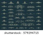 vintage decor elements and... | Shutterstock . vector #579294715