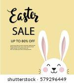 easter sale typographic poster... | Shutterstock .eps vector #579296449