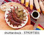 grilled traditional pork... | Shutterstock . vector #579297301