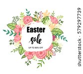typographic easter sale poster... | Shutterstock .eps vector #579297739