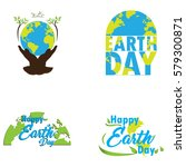 set of colored earth day... | Shutterstock .eps vector #579300871