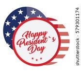 isolated president day sticker... | Shutterstock .eps vector #579301174