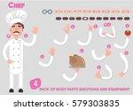 cook set of hands of different... | Shutterstock .eps vector #579303835
