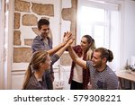 team of your young business... | Shutterstock . vector #579308221