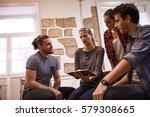 millenial business team sitting ...   Shutterstock . vector #579308665