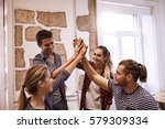 four young people giving each...   Shutterstock . vector #579309334
