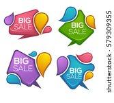 big sale  vector collection of... | Shutterstock .eps vector #579309355