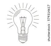 edison lamp. light bulb   idea... | Shutterstock .eps vector #579314617