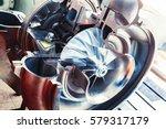 turbocharger structure...   Shutterstock . vector #579317179