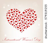 march 8. international women's... | Shutterstock .eps vector #579319255