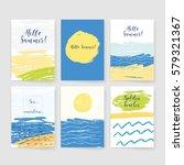 summer collection. sea... | Shutterstock .eps vector #579321367