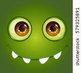 cartoon anime monster face with ... | Shutterstock .eps vector #579325891