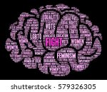 women's rights fight word cloud ... | Shutterstock .eps vector #579326305