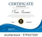 vector certificate template | Shutterstock .eps vector #579327205