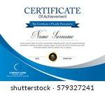 vector certificate template | Shutterstock .eps vector #579327241