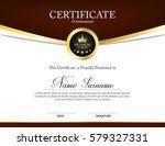 vector certificate template | Shutterstock .eps vector #579327331