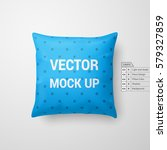 mock up of a cyan pillow... | Shutterstock .eps vector #579327859