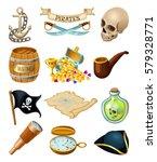 sea pirates  vector icon set | Shutterstock .eps vector #579328771