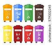 vector set of colorful trash... | Shutterstock .eps vector #579332245