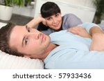 couple relaxing at home | Shutterstock . vector #57933436