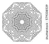 round ornamental mandala for... | Shutterstock .eps vector #579338539