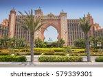 the world famous atlantis hotel ... | Shutterstock . vector #579339301