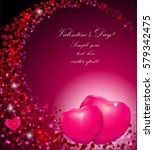 gift card with hearts and text | Shutterstock .eps vector #579342475