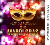 mardi gras party mask holiday...   Shutterstock . vector #579343729