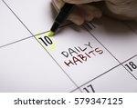 daily habits   Shutterstock . vector #579347125