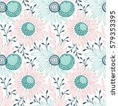 vector seamless floral pattern   Shutterstock .eps vector #579353395