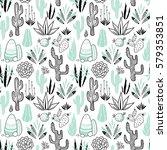 vector floral seamless pattern...   Shutterstock .eps vector #579353851