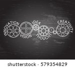 gear wheels with innovative... | Shutterstock .eps vector #579354829