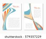 abstract digital modern soft... | Shutterstock .eps vector #579357229