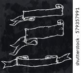 vintage hand drawn ribbon... | Shutterstock .eps vector #579357991