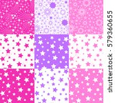 seamless pattern with stars.... | Shutterstock .eps vector #579360655