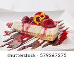 a slice of cheesecake with... | Shutterstock . vector #579367375