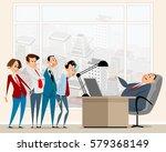 vector illustration of a chief... | Shutterstock .eps vector #579368149