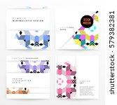 memphis geometric background... | Shutterstock .eps vector #579382381
