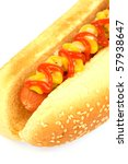 hot dog against white... | Shutterstock . vector #57938647