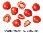 Falling Plum Tomatoes Isolated...