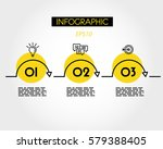 yellow linear infographic ... | Shutterstock .eps vector #579388405