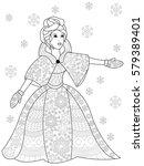 vector illustration winter... | Shutterstock .eps vector #579389401