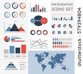 world map infographic. vector... | Shutterstock .eps vector #579394804