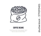 coffee beans vector line icon.... | Shutterstock .eps vector #579395401