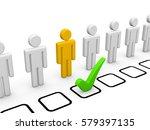 choice of proper candidate. 3d...   Shutterstock . vector #579397135